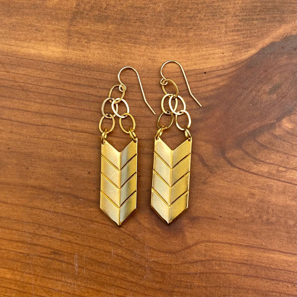 Chevron Hanging Earrings