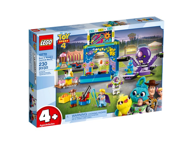 LEGO 10770 TOY STORY 4 BUZZ AND WOODYS CARNIVAL MANIA