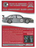 18731 HOLDEN COMMODORE 1995 BATHURST WINNER 25TH ANNIVERSARY SILVER LIVERY 1:18TH