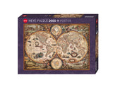 MAP ART VINTAGE WORLD 2000 PIECE