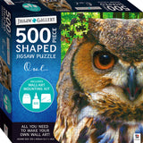 JIGSAW GALLERY 500 PIECE SHAPED KIT OWL