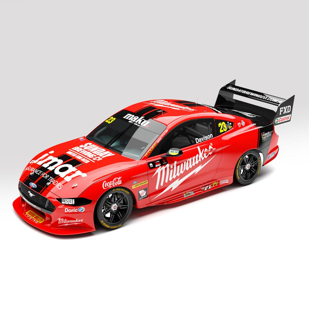 ACD43F20E MILWAUKEE RACING #23 FORD MUSTANG GT SUPERCARS 2020 CHAMPIONSHIP SERIES WILL DAVISON 1:43RD
