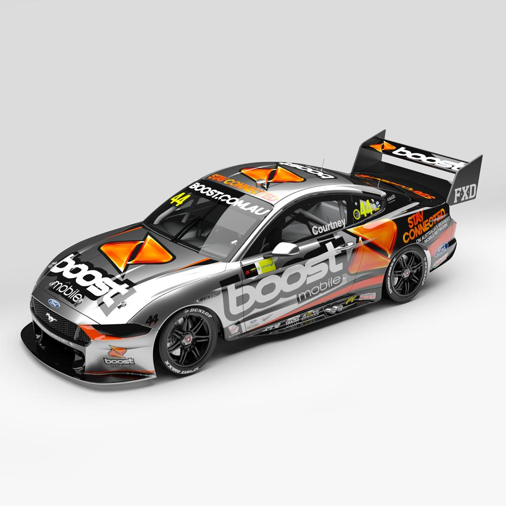 ACD43F20G BOOST MOBILE RACING #44 MUSTANG GT SUPERCAR CHAMPIONSHIP SEASON COURTNEY 1:43RD