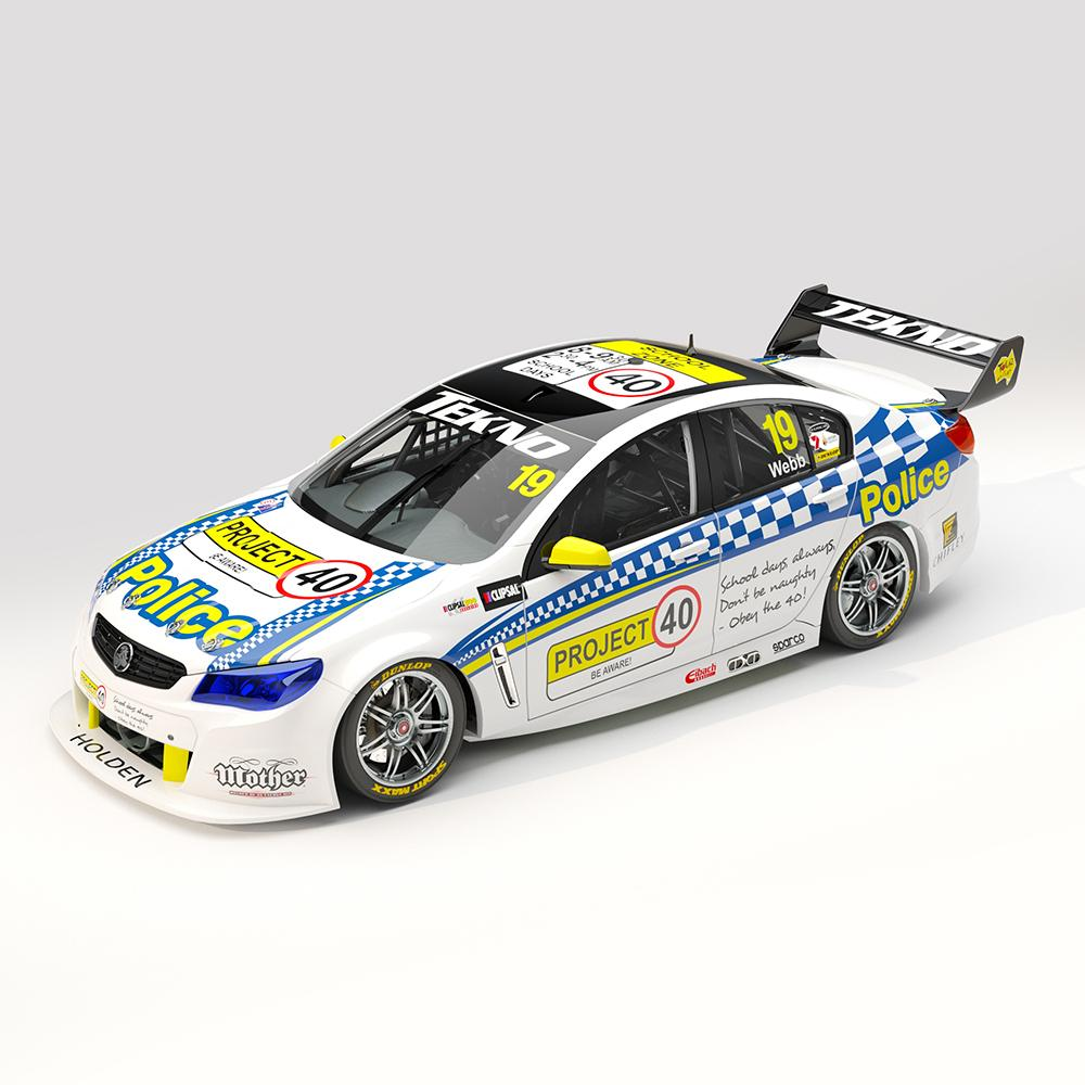 ACD18H13A TEKNO AUTOSPORTS #19 HOLDEN VF COMMODORE SUPERCAR 2013 CLIPSAL 500 JONATHON WEBB 1:18TH