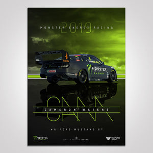 2019 MONSTER ENERGY FORD MUSTANG CAMERON WATERS LIMITED EDITION PRINT