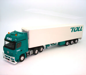 2019 TOLL MERCEDES MP04 PRIME MOVER WITH SINGLE REEFER TOLL TRAILER