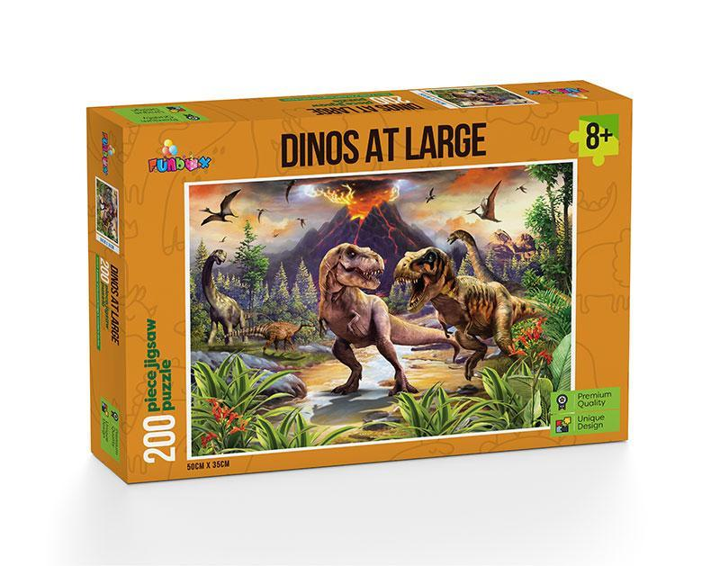 DINOS AT LARGE 200 PIECE