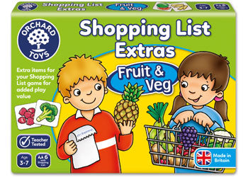 SHOPPING LIST BOOSTER FRUIT AND VEGIES