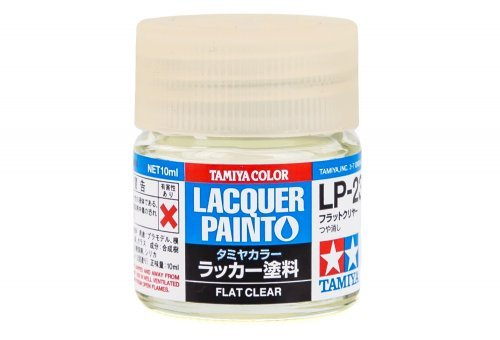 LP23 LACQUER FLAT CLEAR 10ML
