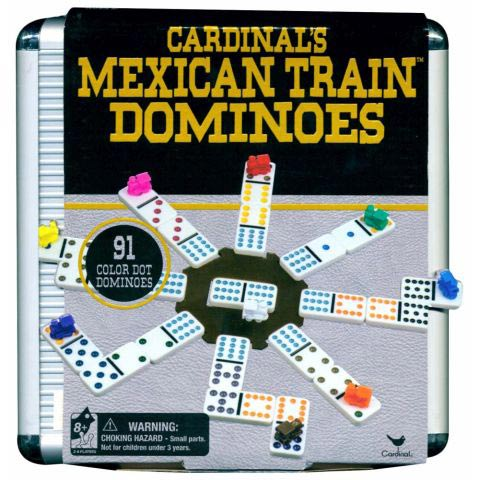 DOMINOES MEXICAN TRAIN ALUMINIUM CASE