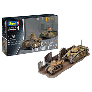 CHAR B.1BIS AND RENAULT FT17 1/76