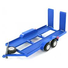CTZO118BL CAR TRAILER METAL 1:18TH BLUE
