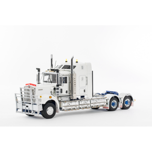 Z01520 KENWORTH C509 SLEEPER WHITE WITH BLUE CHASSIS