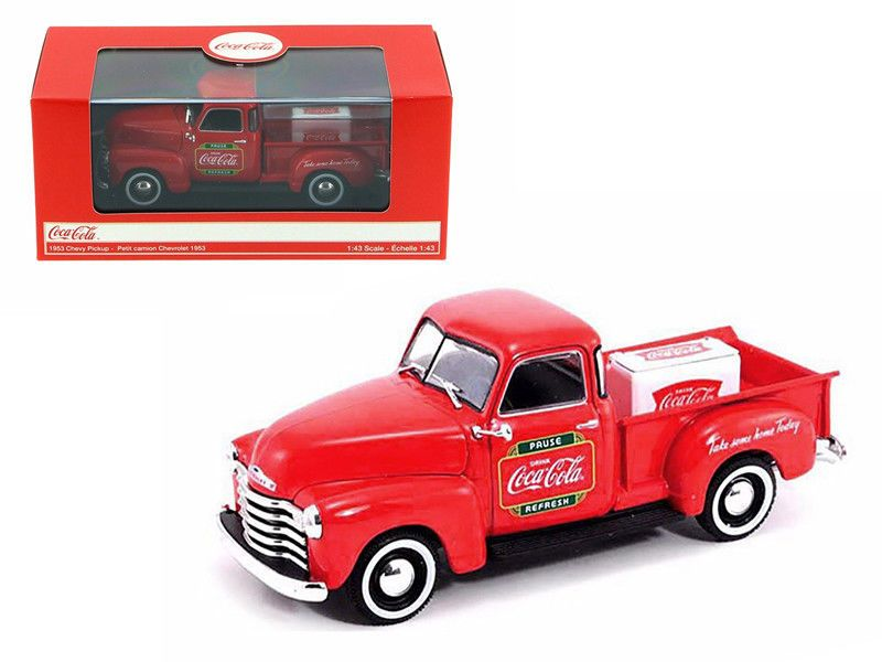 1953 CHEVY PICKUP METAL COOLER COCA COLA 1:43RD