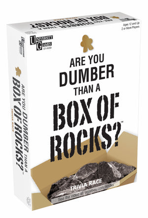 ARE YOU DUMBER THAN A BOXES OF ROCKS TRIVIA RACE