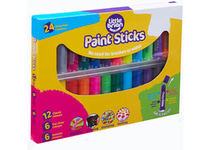 LITTLE BRAIN PAINT STICKS ASSORTED 24 PACK
