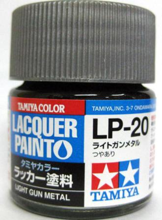 LP20 LACQUER LIGHT GUN METAL 10ML
