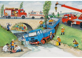 RB08851-5 BUSY FIRE BRIGADE 2 X 24 PIECE
