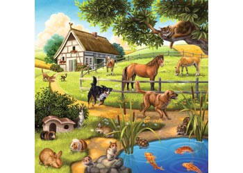 RB09265-9 FOREST ZOO AND PETS 3 X 49 PIECE