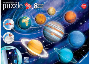 SOLAR SYSTEM 8 PLANETS 3D PUZZLE
