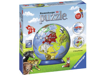 RB11840-3 CHILDRENS GLOBE PUZZLEBALL 72 PIECE