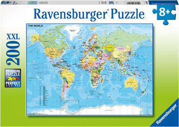 RB12890-7 MAP OF THE WORLD 200 PIECE