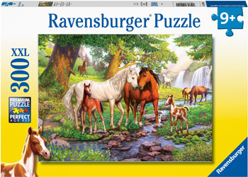 RB12904-1 HORSES BY THE STREAM 300 PIECE