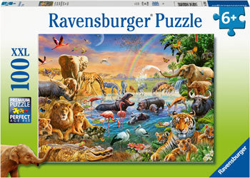 RB12910-2 SAVANNAH JUNGLE WATERHOLE 100 PIECE