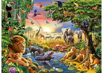 RB13073-3 AT THE WATERING HOLE 300 PIECE