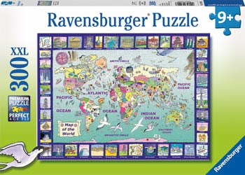 RB13190-7 LOOKING AT THE WORLD PUZZLE 300 PIECE