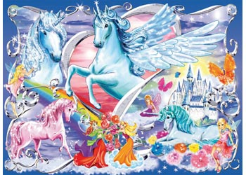 AMAZING UNICORNS GLITTER 100 PIECE