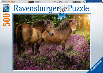 PONIES IN THE FLOWERS 500 PIECE
