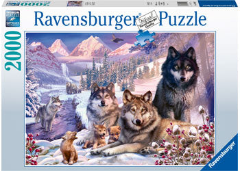 WOLVES IN THE SNOW 2000 PIECE