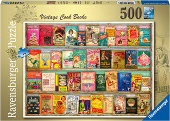 RB16412-7 VINTAGE COOK BOOKS 500 PIECE