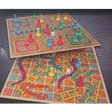 CLASSIC WOODEN SNAKES AND LADDERS AND LUDO