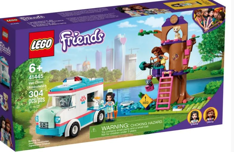 LEGO 41445 FRIENDS VET CLINIC AMBULANCE