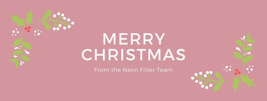 Neon Filter Christmas Delivery