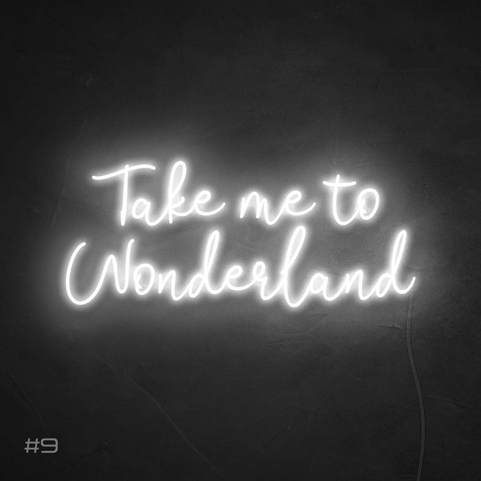Take me to wonderland Neon Sign