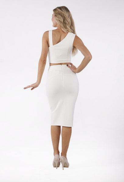 Court Split Skirt by Ivory and Chain - THE OUT LANE
