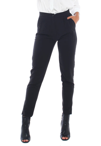Hyde Tailored Pants - Black - THE OUT LANE