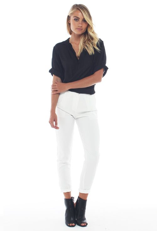 Hyde Tailored Pants - White - THE OUT LANE