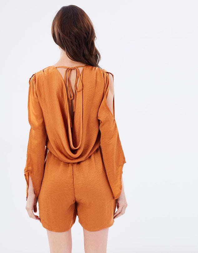 Sky High Playsuit - Rust