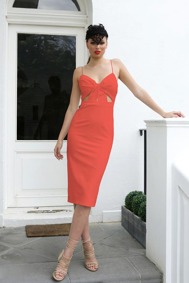 Cut above the Rest Dress- Tangerine