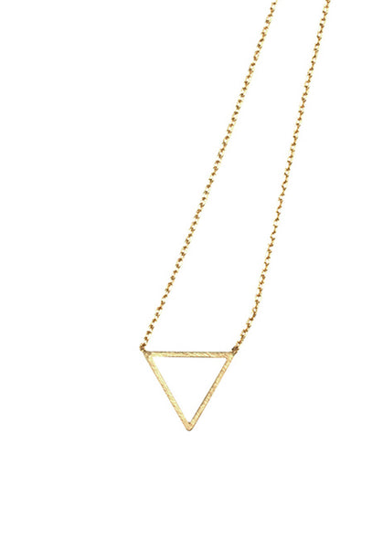 Hollow Triangle Necklace - THE OUT LANE