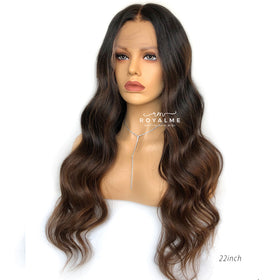 Katy Ombre Human Hair Wig Glueless 13X6 T Part Lace Wig