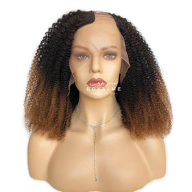 Janie Brown Curly Wig Human Hair For African Amarica