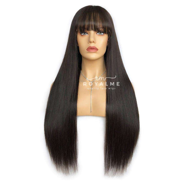 Clip In Bangs Air Fringe Flat Bangs With Temples