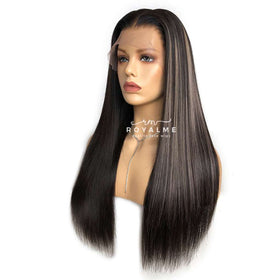 Ashly Human Hair Lace Front Wig 13x6 T Part Wig With Clip in Extensions
