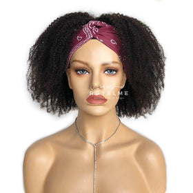 Alyssa Headband Wig Natural Black and Ombre Brown Short Curly