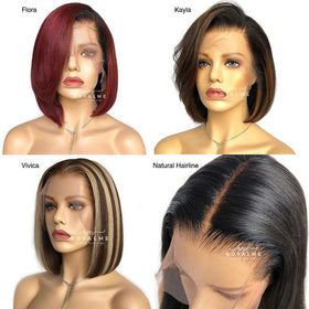 10inch Short Hair Bob Wig Preplucked 13x6 T Part Wig